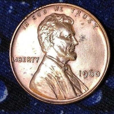 1960-P Small Date Proof Lincoln Memorial 1c ~ All Red ~ As Shown! ~ P23