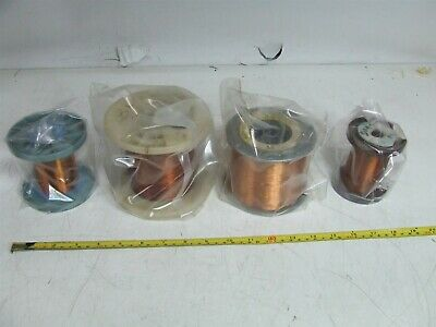 4 x Enameled copper Magnet Winding Wire 4.5 kg approximately