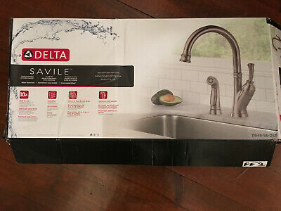 DELTA SAVILE STAINLESS Steel Kitchen Faucet Model # 11949-SS ...