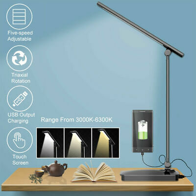 Touch Sensor USB Charger LED Desk Table Lamp Bedside Reading light Dimmable AU