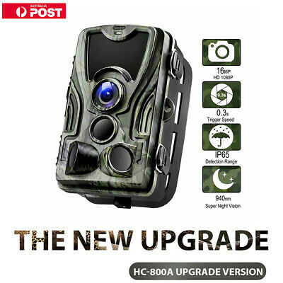 IP65 1080P 16MP Hunting Trail Camera Wildlife Scouting Cam IR Night Vision 20M