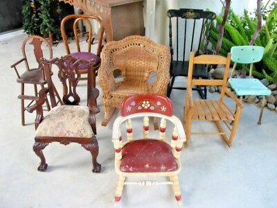 Vintage Childrens Chairs/Rockers Set .....Pick-Up Only