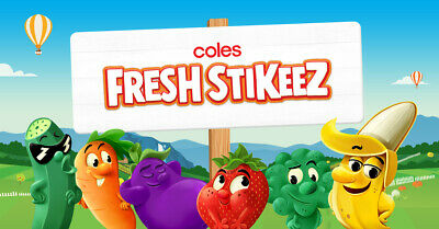 COLES FRESH STIKEEZ - all posted within 24 hours of payment