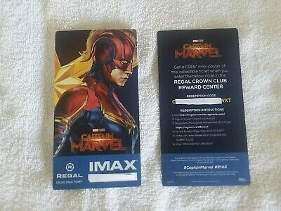 Captain Marvel Collectible Week 2 Regal IMAX Ticket Brie Larson Free Poster Code