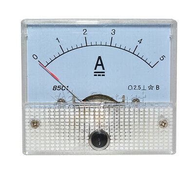 Analog AMP Current Panel Meter DC 5A Ammeter Ampere Gauge Tester 85C1-A