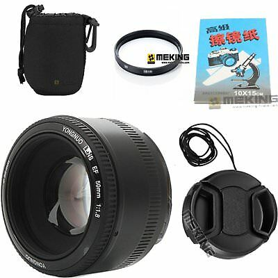 YONGNUO YN 50MM F1.8 Large Aperture Auto Focus lens For Canon EF EOS Camera Kit