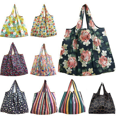 1pcs Foldable Recycle Shopping Reusable Cartoon Floral Fruit Vegetable Tote Bag