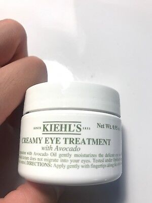 Kiehl's Creamy Eye Treatment with Avocado .95 oz  Brand New AUTHENTIC Sealed