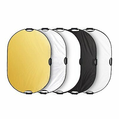 "32×48"" 5in1 Light Mulit Collapsible Portable Reflector Photo Oval Panel"