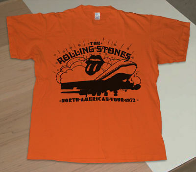 Vintage Rolling Stones t shirt 1972 Exile on Main Street Promo Rock N Roll S-2XL