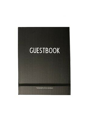 DESIGN LETTERS Guestbook in black / white typography