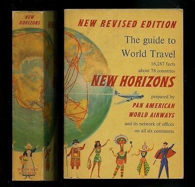 Pan American World Airways 1955 NEW HORIZONS Travel Guide 576 pp Illustrated