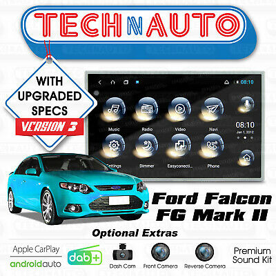 FORD FG AMPLIFIER Premium Sound With Bracket Falcon Fpv Amp