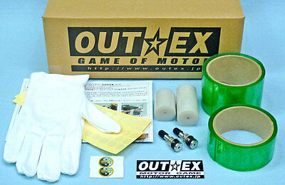 Tubeless kits for SUPER CUB /CD50、90 /etc. Front and Rear 17×1.40 / OUTEX