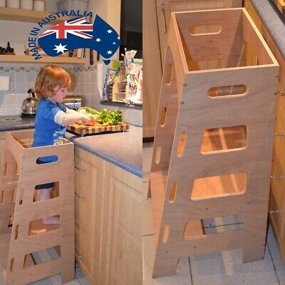 Kitchen Helper Tower - Montessori Toddler stool step learning tower