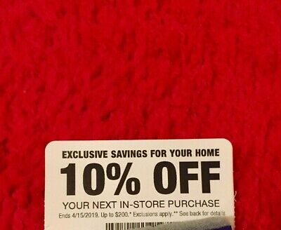 Home Depot 10% off in-store entire order Coupon (Original Card)