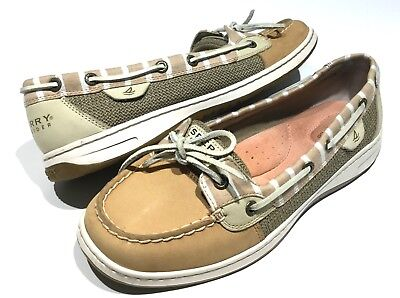 32240a326882 Womens Sperry Top-Sider Angelfish Boat Shoes 10 Oat Linen Casual Slip-On  9265786