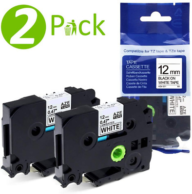 2 Pk TZe-231 TZ-231 Laminated Compatible Brother P-touch TZe Label Tape 12mm
