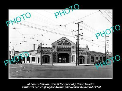 OLD LARGE HISTORIC PHOTO OF St LOUIS MISSOURI, VIEW OF THE LYRIC THEATER c1920