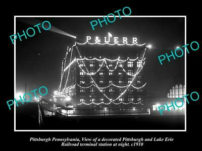 OLD HISTORIC PHOTO OF PITTSBURGH PENNSYLVANIA, THE P&LERR TERMINAL STATION c1910