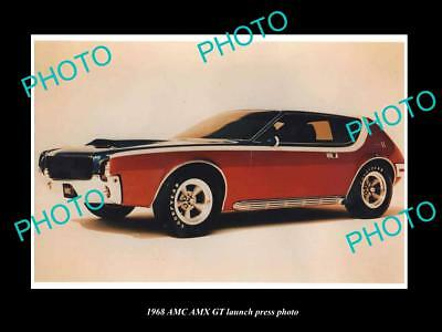 Old Large Historic Photo Of 1968 Amc Amx Gt Launch Press Photo