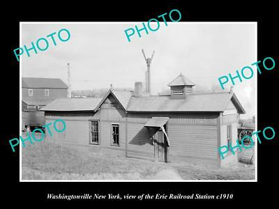 OLD HISTORIC PHOTO OF WASHINGTONVILLE NEW YORK ERIE RAILROAD STATION c1910 2