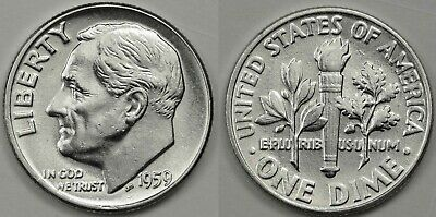 1959 D and 1960 D Roosevelt Silver Dimes CP1324