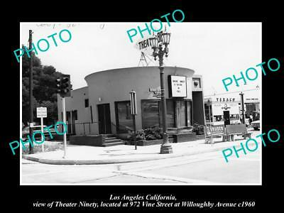 OLD LARGE HISTORIC PHOTO OF LOS ANGELES CALIFORNIA, VIEW OF THE THEATER 90 c1960