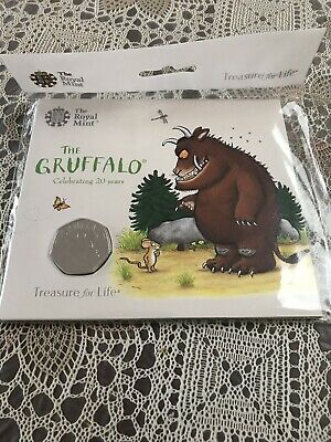 2019 The Gruffalo 50p Coin Brilliant Uncirculated Royal Mint Presentation Pack
