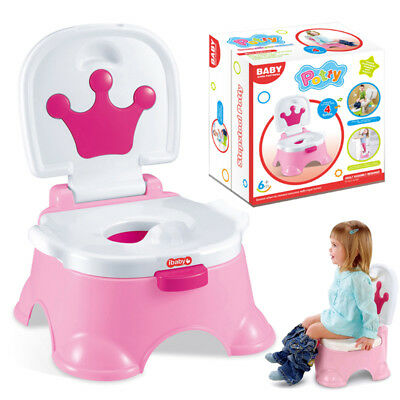 3 in 1 Baby Toddler Toilet Trainer Safety Pink Music Potty Training Seat Fun