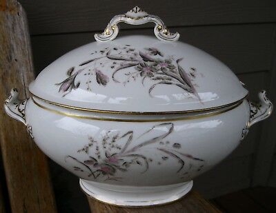 Antique Aesthetic Delinieres & Co Limoges France Soup Tureen Vintage D & Co