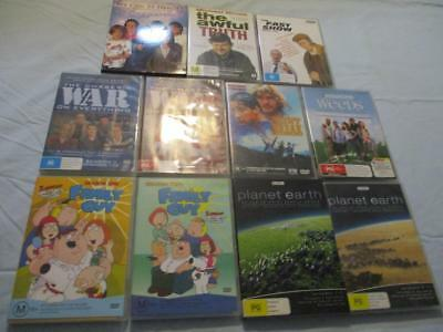BULK 11+ DVDs Family Guy Point Break Chaser's Weeds We Can Be Heroes Awful Truth