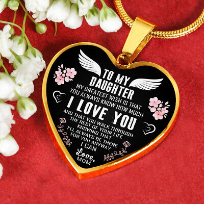 To My Daughter Necklace - How Much I Love You - Best Jewelry Gift from Mom