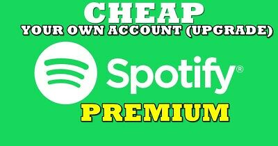 🔥🔥 Spotify PREMIUM UPGRADE - YOUR OWN ACCOUNT - WORLDWIDE  🔥🔥