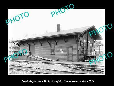 OLD LARGE HISTORIC PHOTO OF SOUTH DAYTON NEW YORK, ERIE RAILROAD STATION c1910