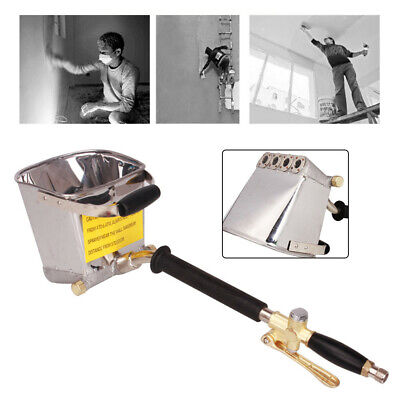 Stucco Sprayer 4 Jet Wall Cement Mortar Spray Gun Plaster Hopper Paint Tool