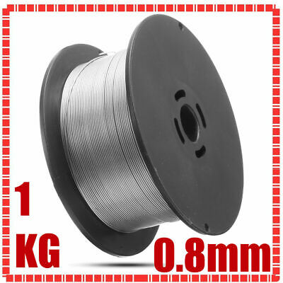 GASLESS MILD STEEL MIG WELDING WIRE REEL SPOOL ROLL FLUX CORED NO GAS 0.8mm 1KG