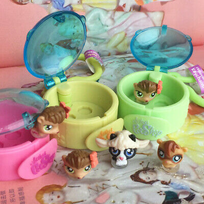 Littlest Pet Shop LPS Keychain Box Figure Toy Send At Random