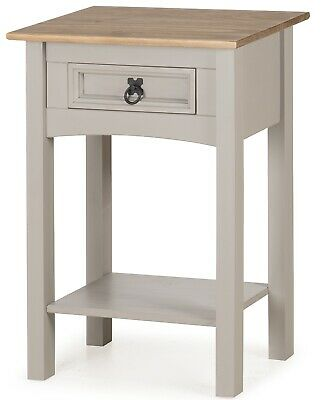 Corona Grey Wax 1 Drawer Console Table by Mercers Furniture®