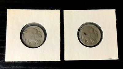Buffalo Nickel 2 Coin Set 1935 And 1937 Rare Usa Lot Of Nickels With Protection!