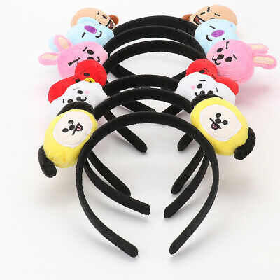 Kpop Group Bangtan Boys Hair Band Cute Headwear Chimmy Tata Shooky Vann Headband