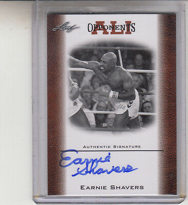 """2010 Leaf Ali Opponents Earnie Shavers """"The Black Destroyer"""" Autograph Auto"""