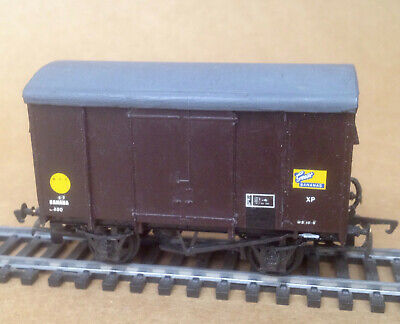 Ratio 00 - Brown Box Van  Hand Painted  Good Used Condition (637)