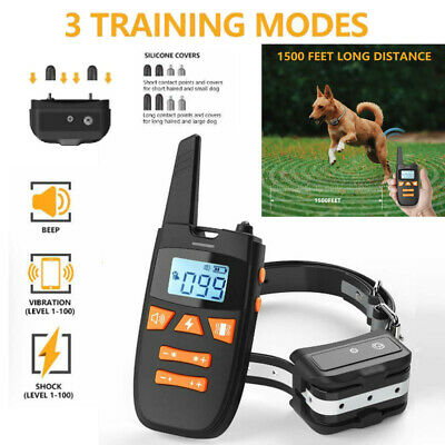 Rechargeable Electric Dog Training Collar Shock Collar With LCD Remote