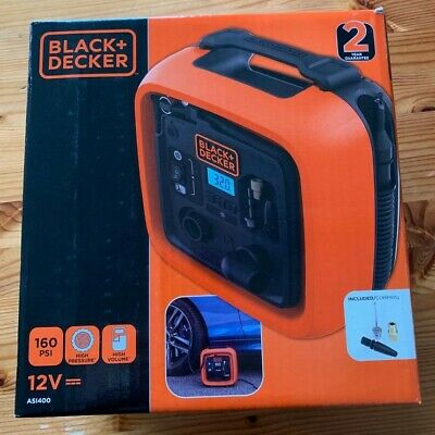 BLACK+DECKER Kompressor ASI400-XJ, 11bar, Luftpumpe, Orange *** NEU & OVP ***