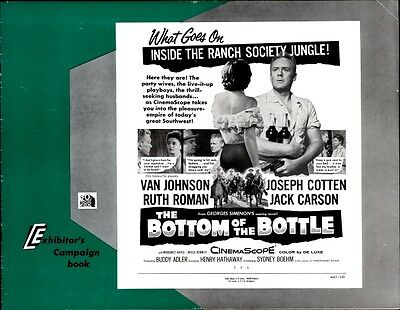 BOTTOM OF THE BOTTLE pressbook, CINEMASCOPE, Van Johnson, Ruth Roman PLUS POSTER