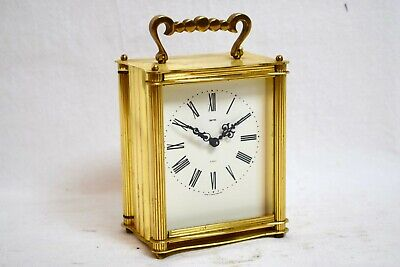 1960s SMITHS 8 DAY FLOATING BALANCE MECHANICAL BRASS VINTAGE CARRIAGE CLOCK