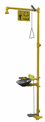 Bradley S19314AC Halo Safety Shower Eye Face Wash w/ Foot Control $AVE $$$