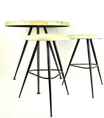 Mid-Century COFFEE-TABLE Tavolino + 2 sgabelli Italian Design 50's -Italy/retrò