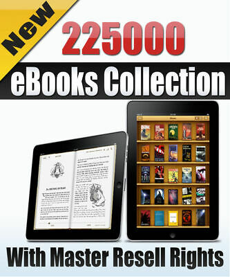 eBooks Package 225000 Collection with Master Resell Rights PDF+Free Shipping